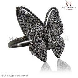 Butterfly Pave Diamond Designer Ring