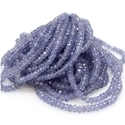 Faceted Tanzanite Rondelle Beads Strands