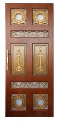 Metal Design Copper Pooja Door
