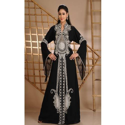 4da67c4786 Black Full Sleeves Cocktail Party Wear Designer Abaya Kaftans