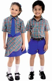 School Checked Uniforms   Pawan Garments   Wholesale Trader