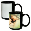 Personalized Sublimation Photo Black White Patch Mugs