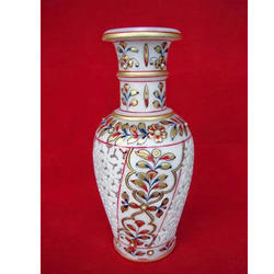 Decorative Vase with Stone Work