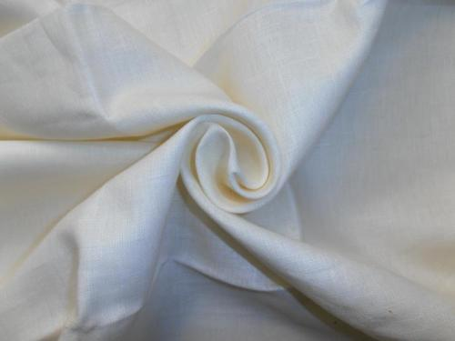40s White & Cream Pure Linen Fabric 54 Inch Wide - The