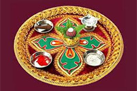 Aarthi u0026 Thali Plate Decoration : aarti plate decoration - pezcame.com