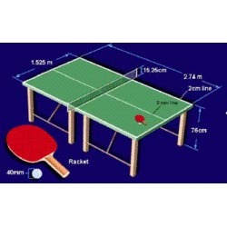 Table tennis net view specifications details of table - Measurements of table tennis table ...