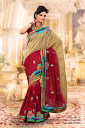 Double Color Designer Sarees
