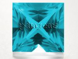 Swiss Blue Topaz Square Princess Cut Gemstone