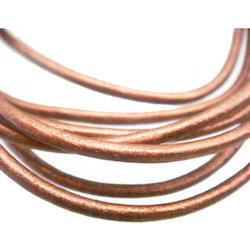 Copper Color Round Leather Cords