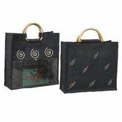 Black Handmade Jute Bags