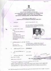 Importer Exporter Code (IEC) Certificate