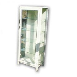 White Mild Steel Instrument Cabinet, Height: 10 feet