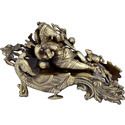 Aakrati Brown Majestic Ganesha Resting Statues Exquisite Lord Ganesha Sculpture
