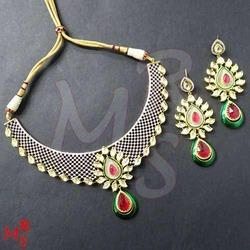 Ruby Green Fusion Necklace Set