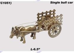 Double Bull Cart - Brass Handicrafts