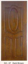 Pine Dark Brown Wood Doors