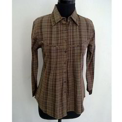 Ladies Brown Shirt