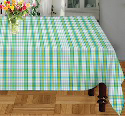 Green Rectangular Checked Table Cloth, Size: 145 x 220 Cm