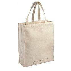 White Canvas Shopper Bag