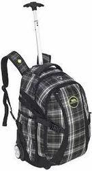 Polyester Black Bag Pack Trolleys Bag