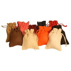 Coloured Jute Pouches