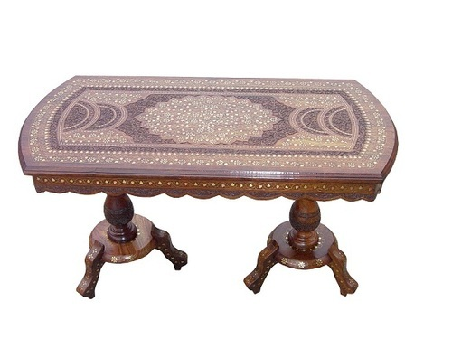 A S & Sons International Rectangular Wooden Coffee Table, for Home