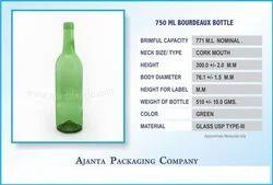 Winejar Green Bottle, वाइन बॉटल - Ajanta Bottle