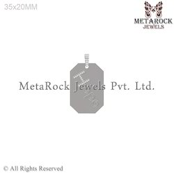 Silver Charm Tag Pendant Jewelry