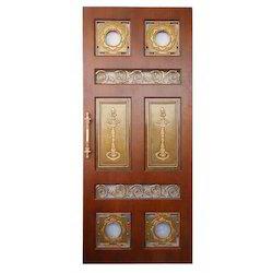 Brass  Pooja Design Door