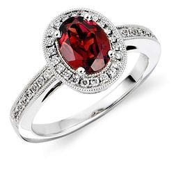 Red Garnet Diamond