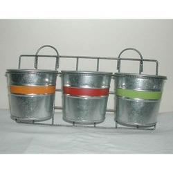 Galvanized Designer Planter