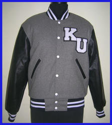 Grey Black Letterman Jacket