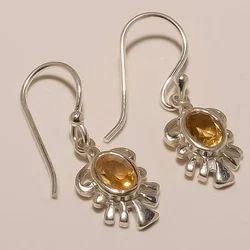 Sterling Silver Citrin Earring 4.5