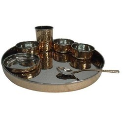 Copper Steel Rajwara Thali Set