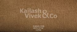 16 Wale Lycra Coffee Corduroy Fabric