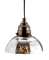 Antique Silver Octagon Pendant Lamp