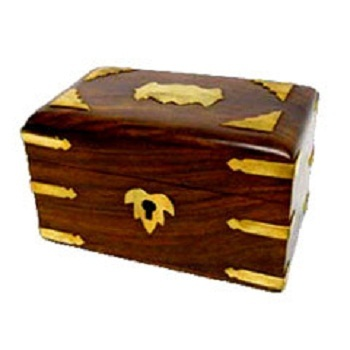 Carved Box Brass Inlay Bamboo And Wooden Handicrafts N Y