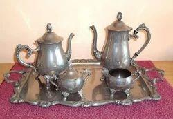 Silver Plated Tea Set & Silver Plated Tea Set in Moradabad Uttar Pradesh | Chandi Jadit ...