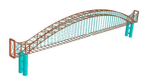 design and consultancy of steel arch bridges in industrial 87819