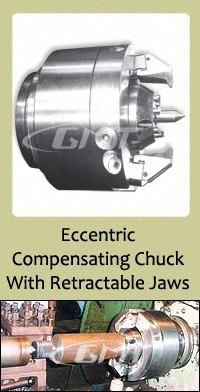 Used Eccentric Compensating Chuck With Retractable Jaws