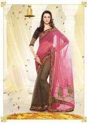 Indian Lace Cotton Saree