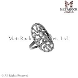 Designer Pave Diamond Ring