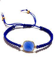 Blue Chalcedony Macrame Bracelet