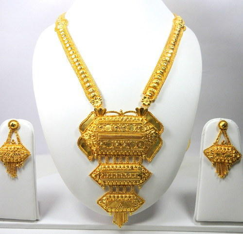 Gold Plated Long Necklace Set & Gold Plated Long Necklace Set | Sparkle World | Wholesale Trader in ...