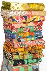 Vintage Kantha Throw Sari Quilt
