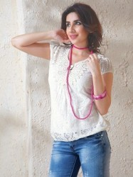 Crochet Neckline Top