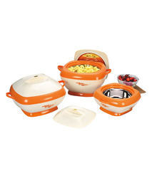 Orange Square Casserole Set