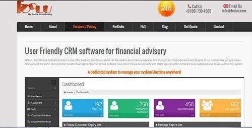 Crm Software For Financial Advisory Customer Engagement Software Customer Loyalty Management Software Customer Relationship Management Software Customer Service Software स आरएम स फ टव यर Foduu Web Design Company India Indore Id