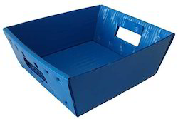 Blue Corrugated Tray Carton Box