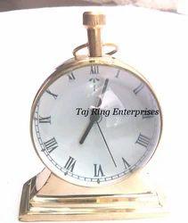 Stylish Desktop Brass Clock